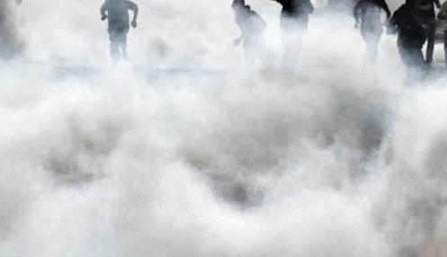 tear-gassed