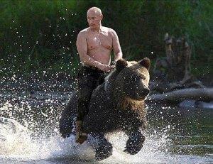 Vladimir-Putin-riding-a-bear